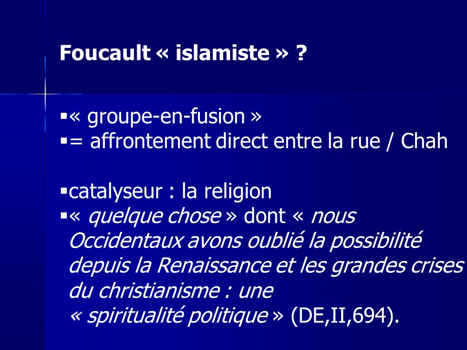 = affrontement direct entre la rue / Chah catalyseur : la religion