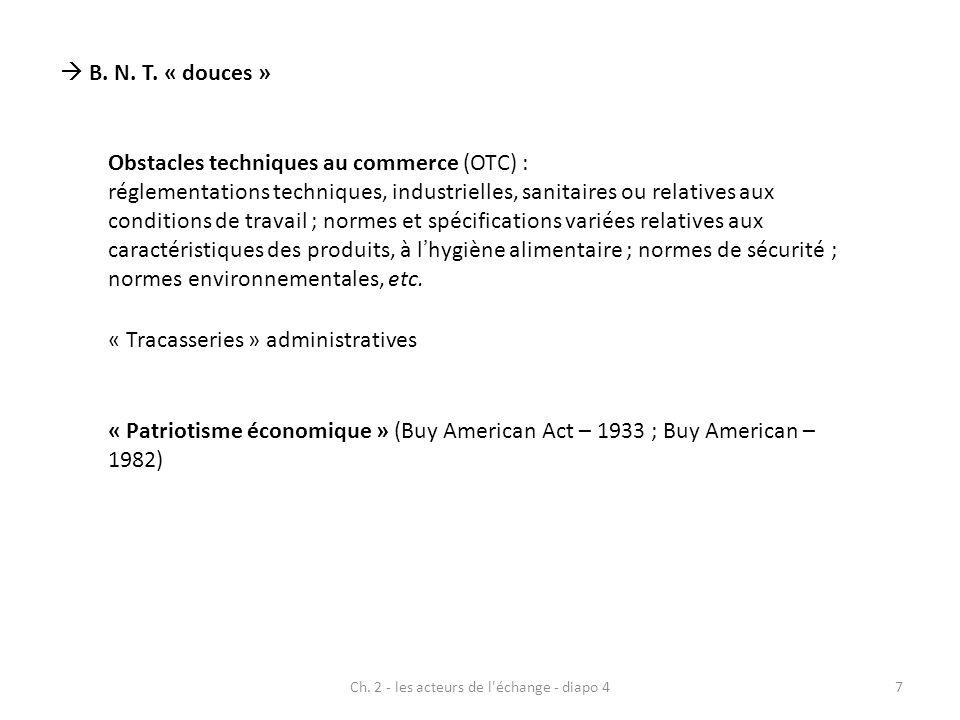Ch. 2 - les acteurs de l échange - diapo 4