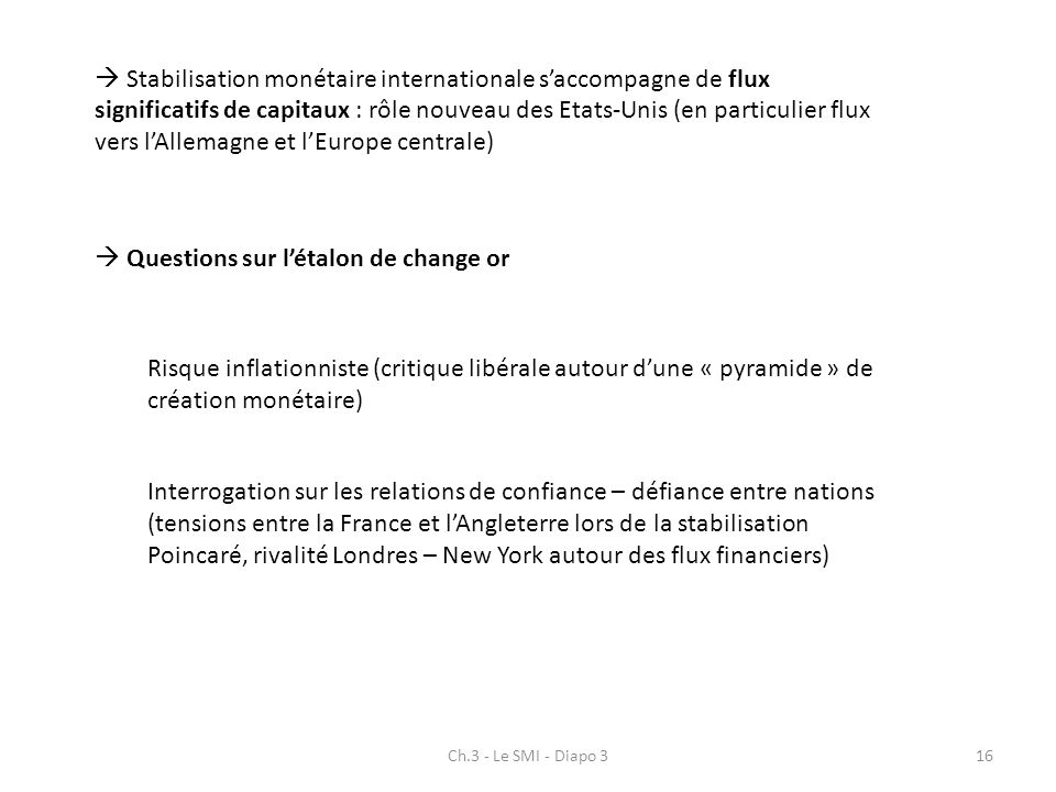  Questions sur l'étalon de change or