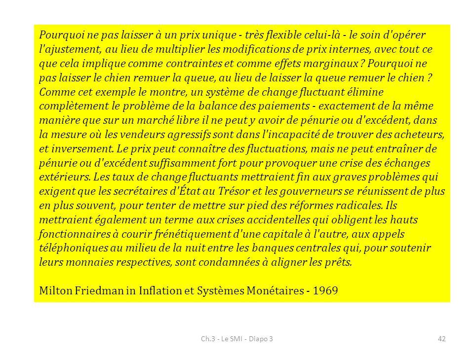 Milton Friedman in Inflation et Systèmes Monétaires - 1969