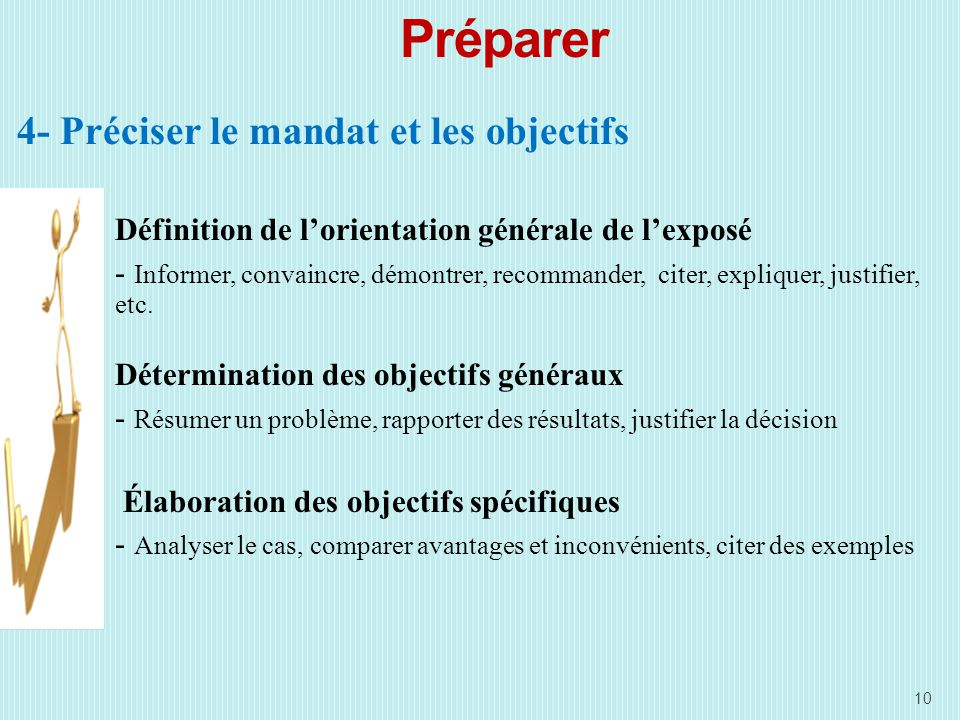 Préparer 4- Préciser le mandat et les objectifs