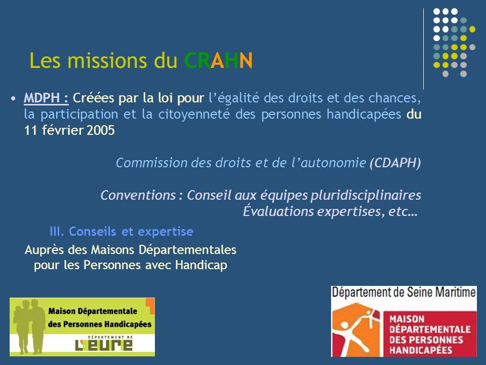 Les missions du CRAHN