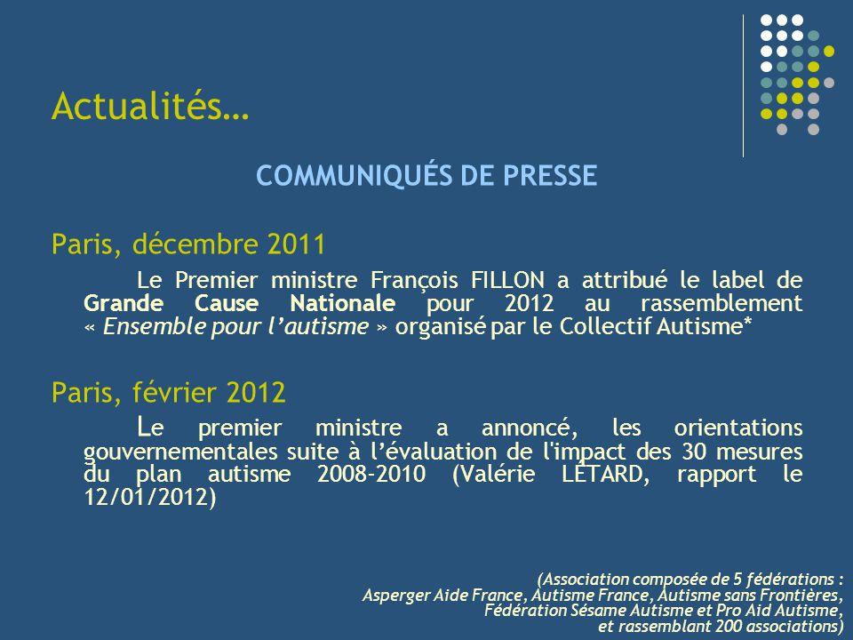Actualités… COMMUNIQUÉS DE PRESSE Paris, décembre 2011
