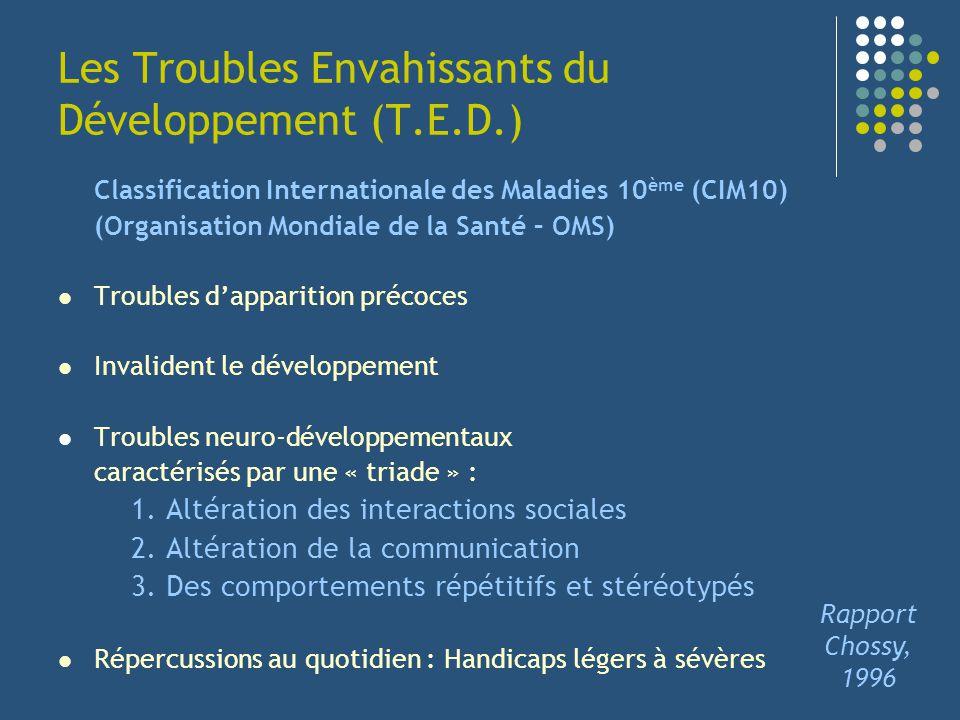 Les Troubles Envahissants du Développement (T.E.D.)