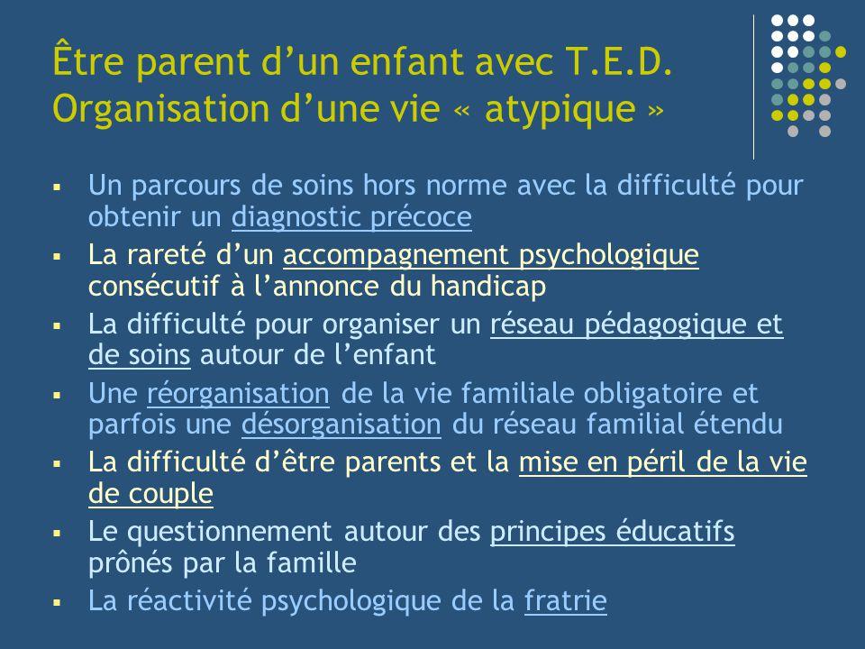 Être parent d'un enfant avec T. E. D