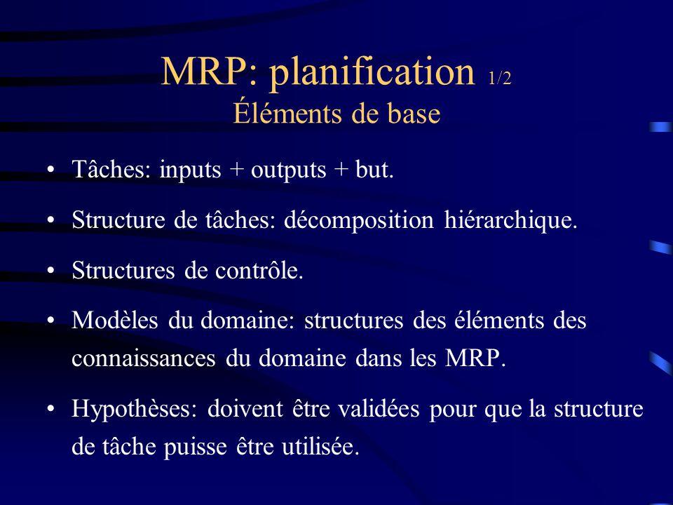 MRP: planification 1/2 Éléments de base