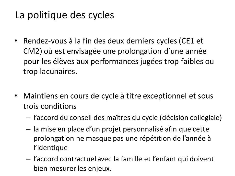 La politique des cycles