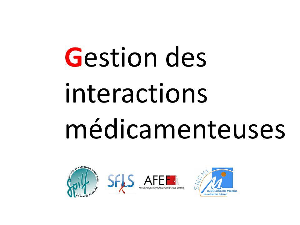 Gestion des interactions médicamenteuses
