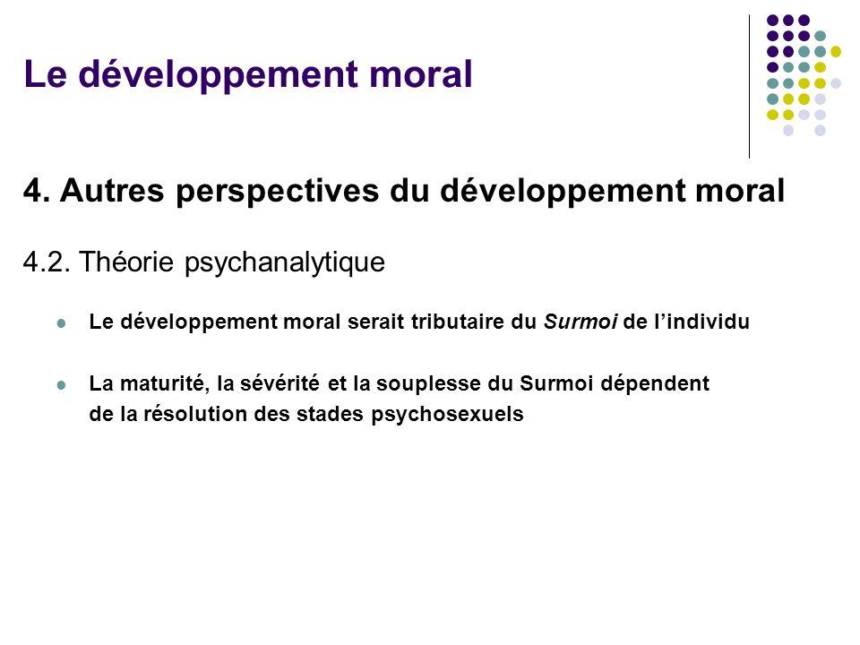 Le développement moral