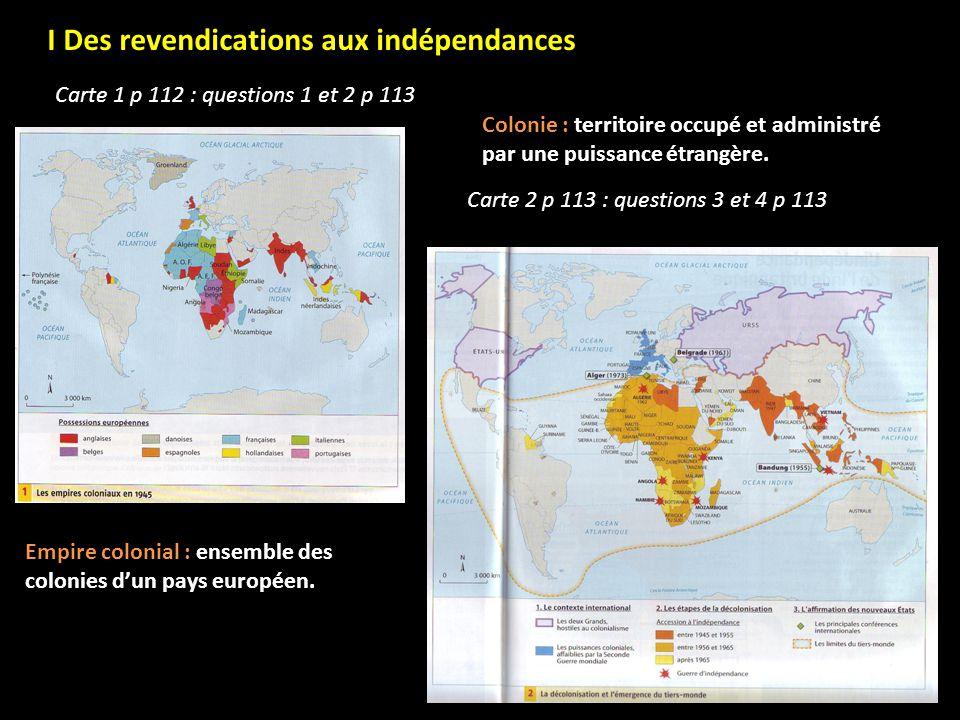 I Des revendications aux indépendances