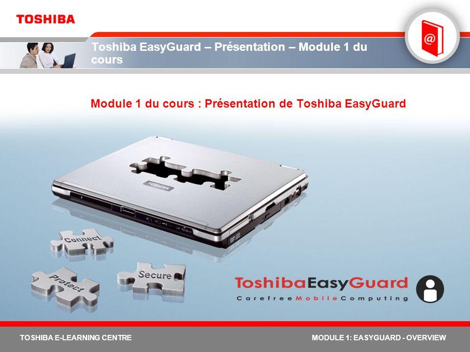 Toshiba EasyGuard – Présentation – Module 1 du cours