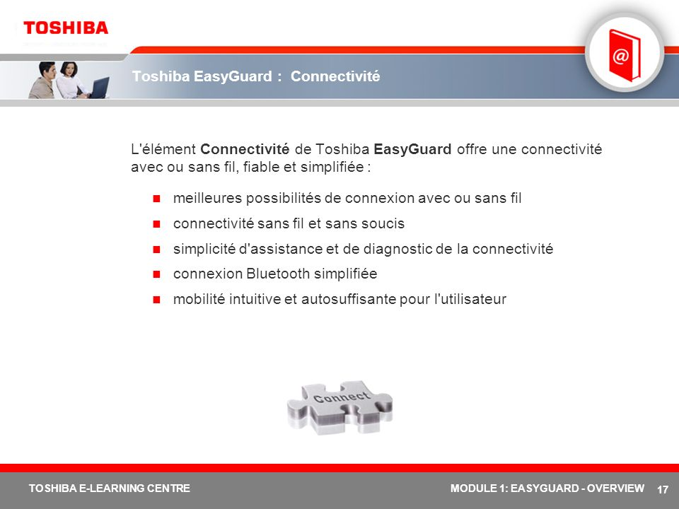 Toshiba EasyGuard : Connectivité