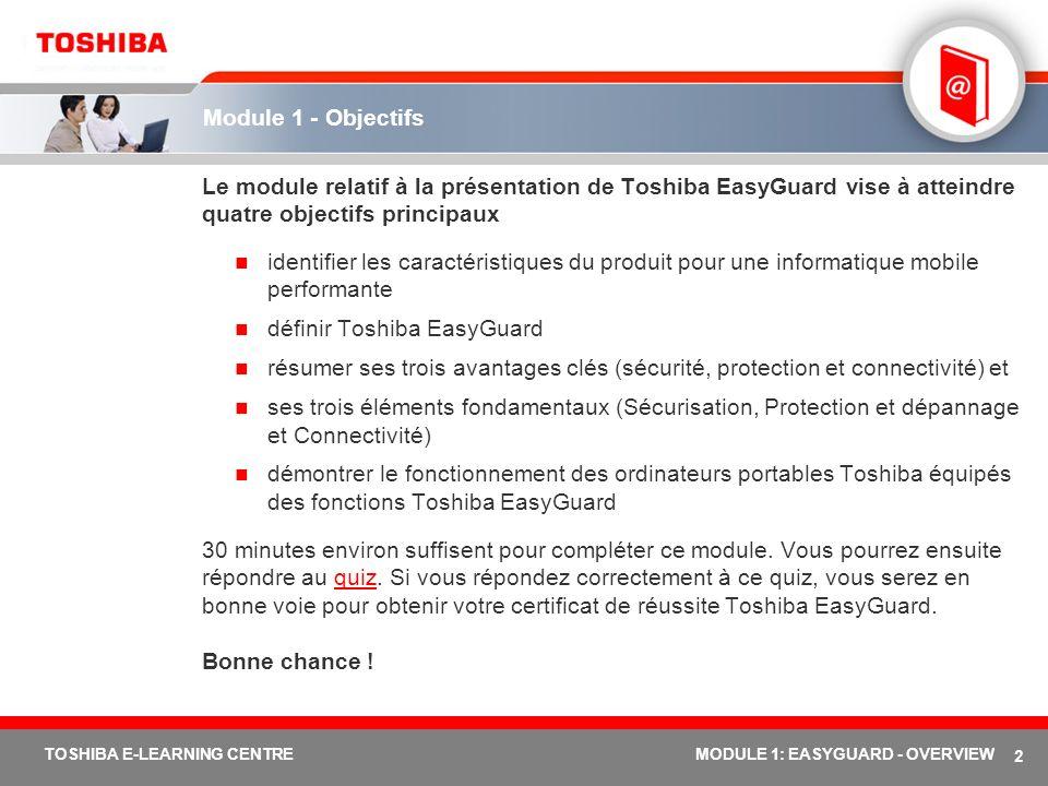 définir Toshiba EasyGuard
