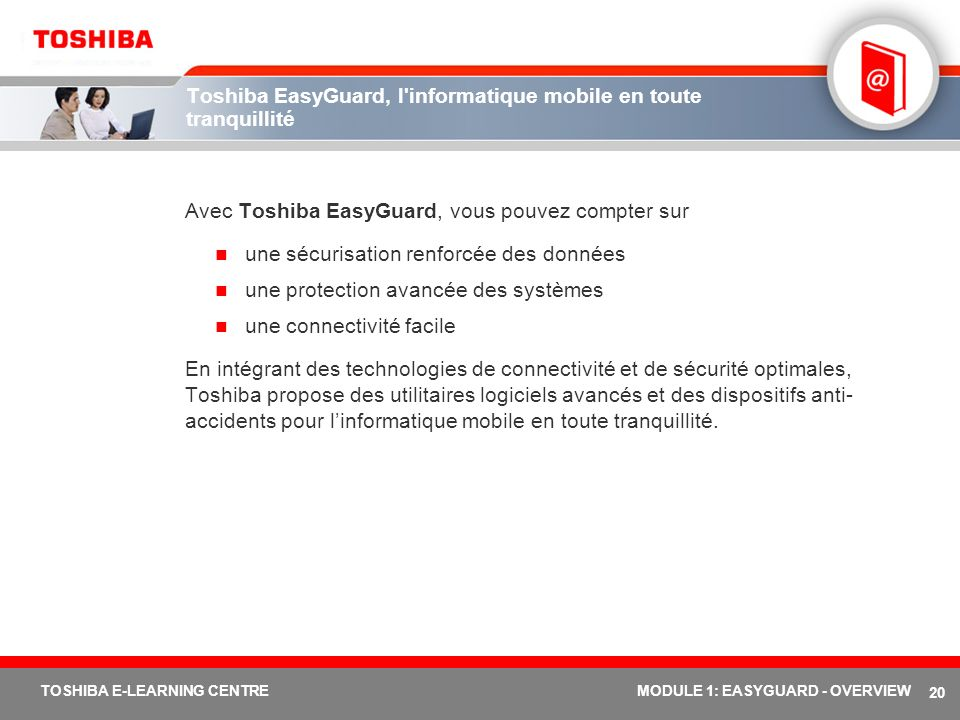 Toshiba EasyGuard, l informatique mobile en toute tranquillité