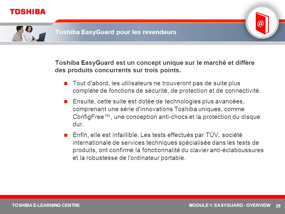 Toshiba EasyGuard pour les revendeurs