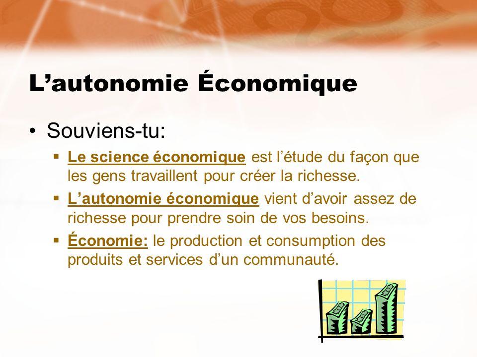 L'autonomie Économique