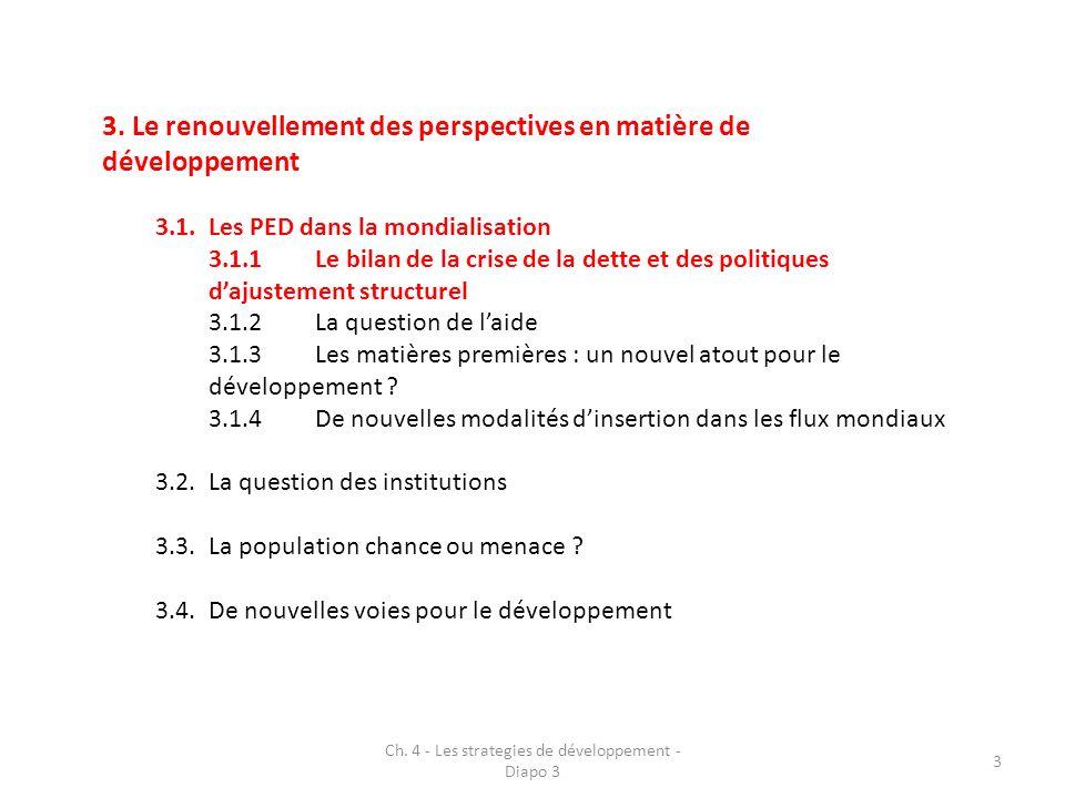 Ch. 4 - Les strategies de développement - Diapo 3