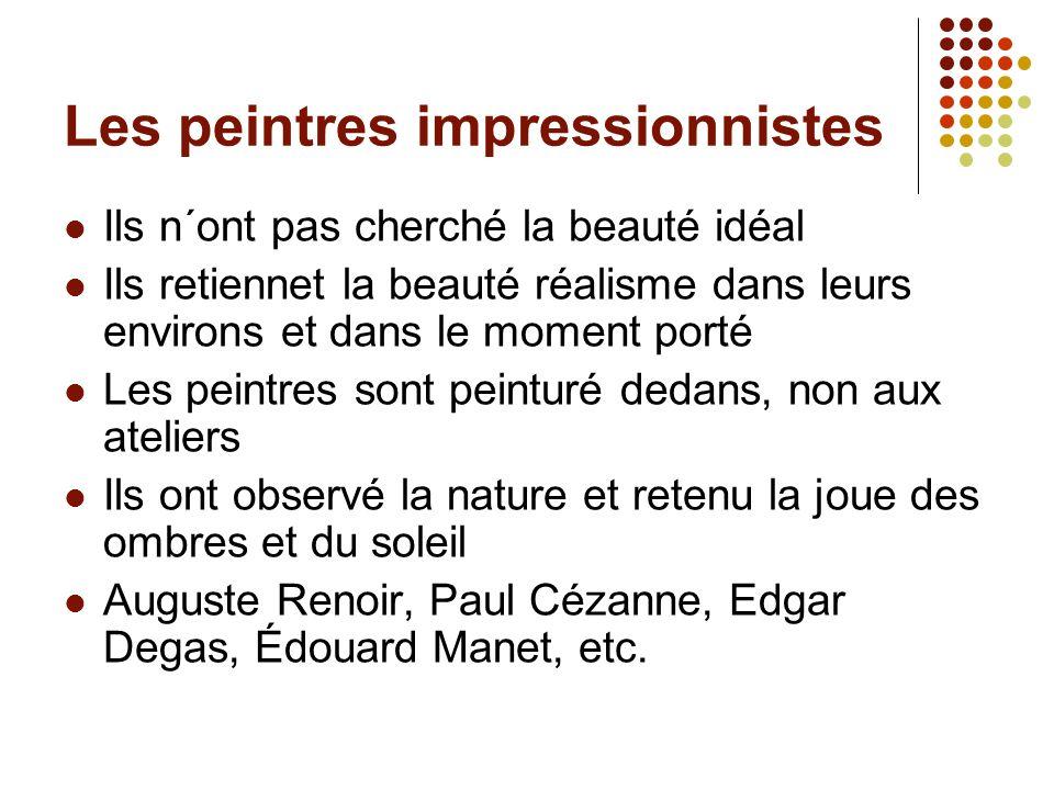 Les peintres impressionnistes