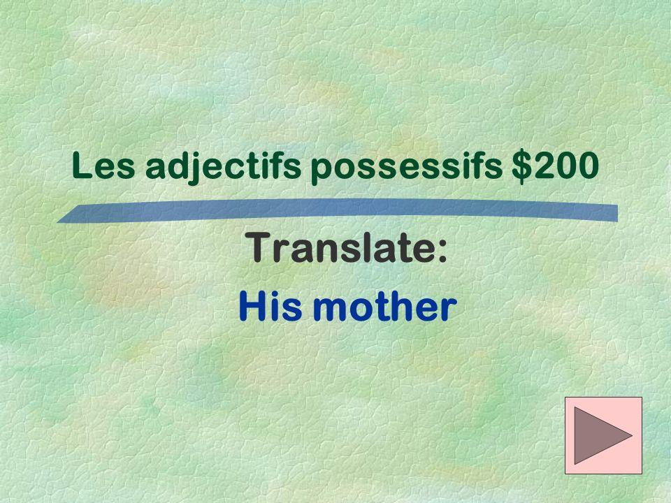 Les adjectifs possessifs $200