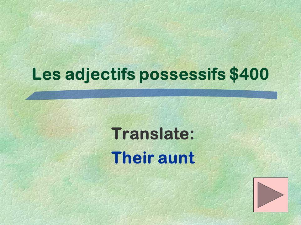 Les adjectifs possessifs $400