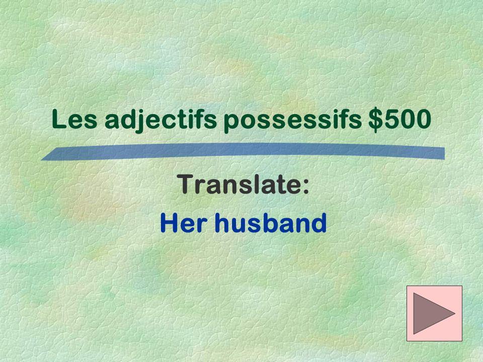 Les adjectifs possessifs $500