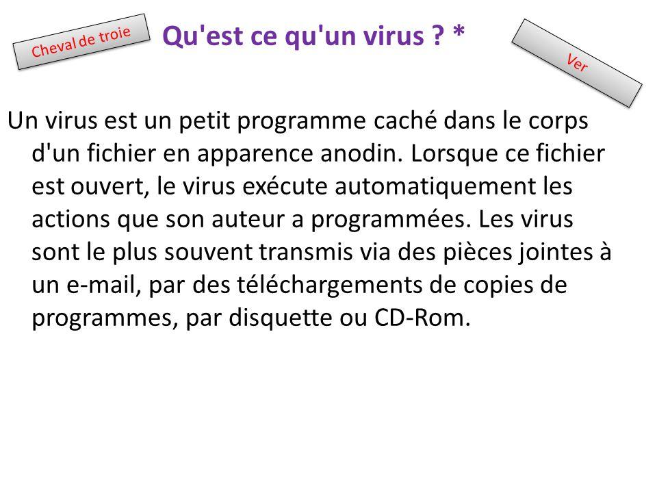 Qu est ce qu un virus *