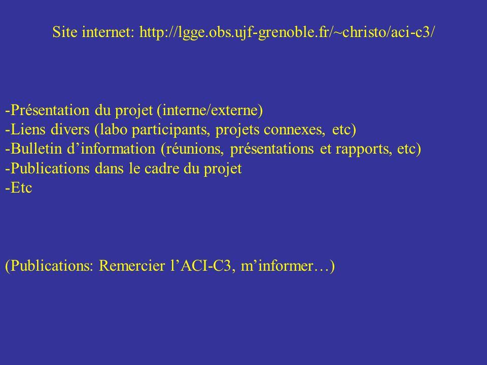 Site internet: http://lgge.obs.ujf-grenoble.fr/~christo/aci-c3/