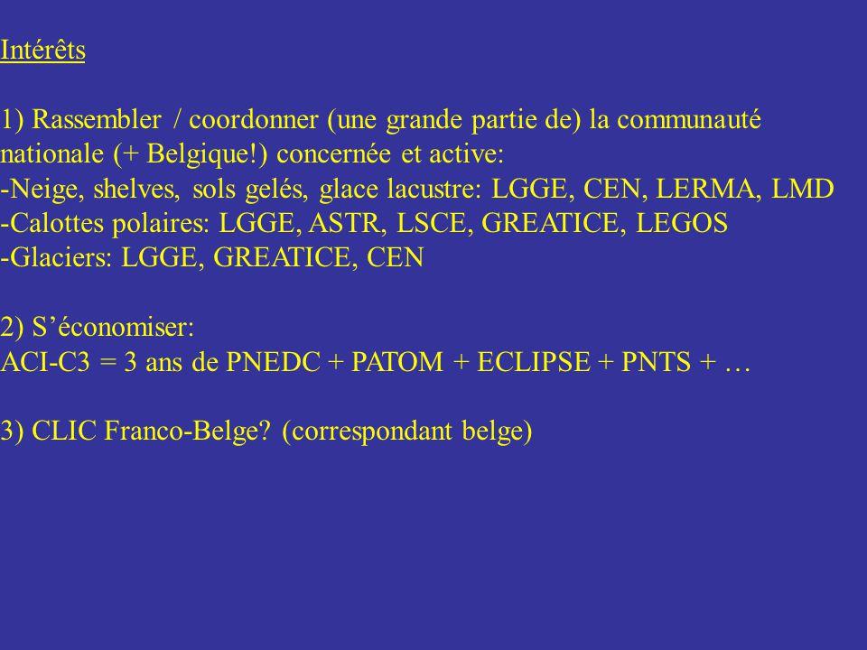 Intérêts 1) Rassembler / coordonner (une grande partie de) la communauté nationale (+ Belgique!) concernée et active: