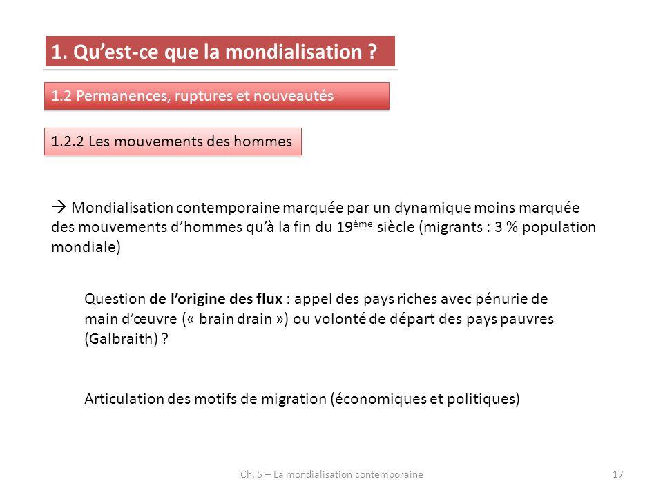 Ch. 5 – La mondialisation contemporaine