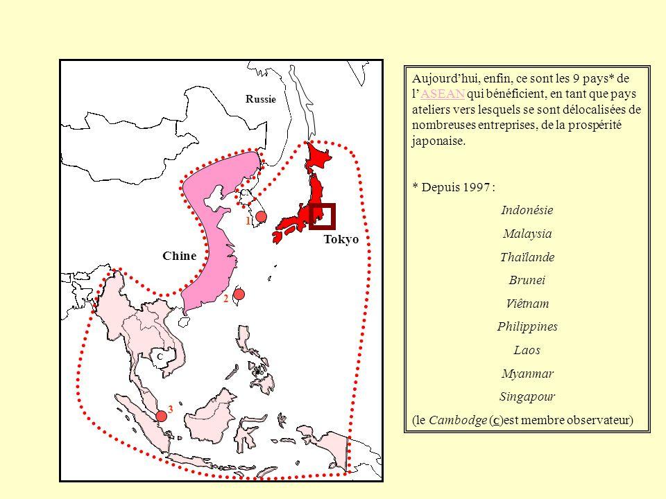 (le Cambodge (C)est membre observateur) Tokyo Chine