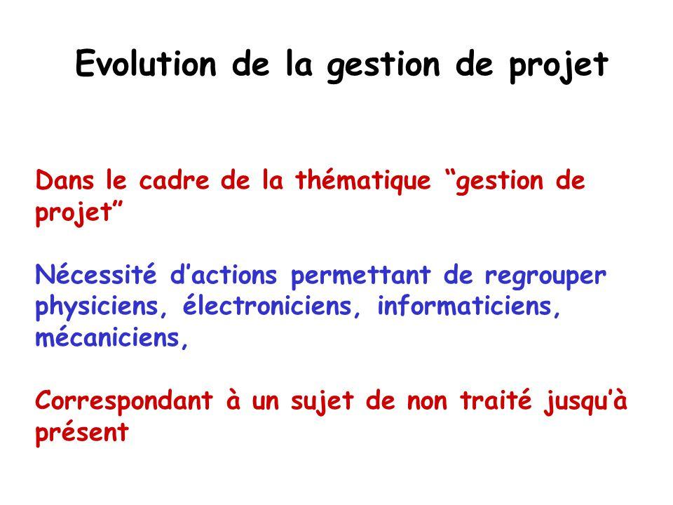 Evolution de la gestion de projet