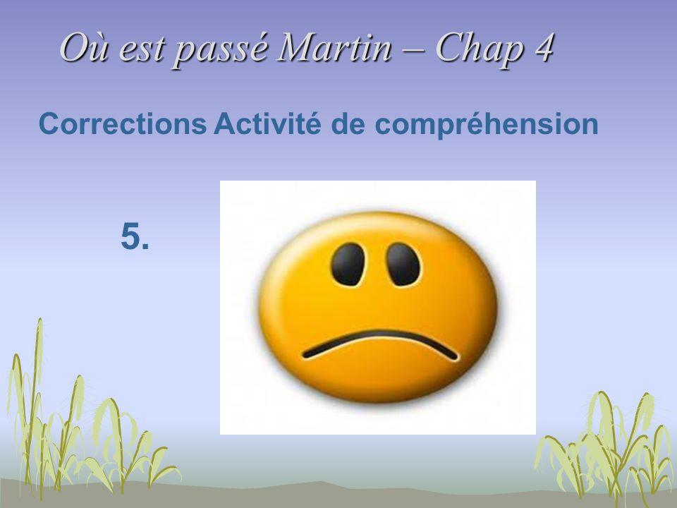 Où est passé Martin – Chap 4