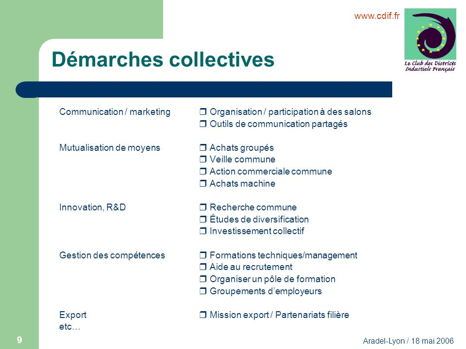 Démarches collectives