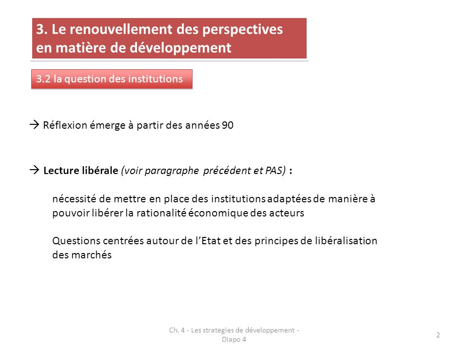 Ch. 4 - Les strategies de développement - Diapo 4