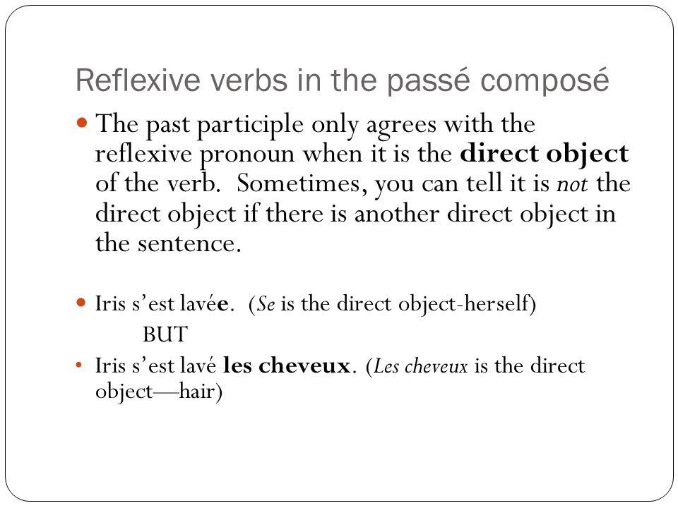 Reflexive verbs in the passé composé