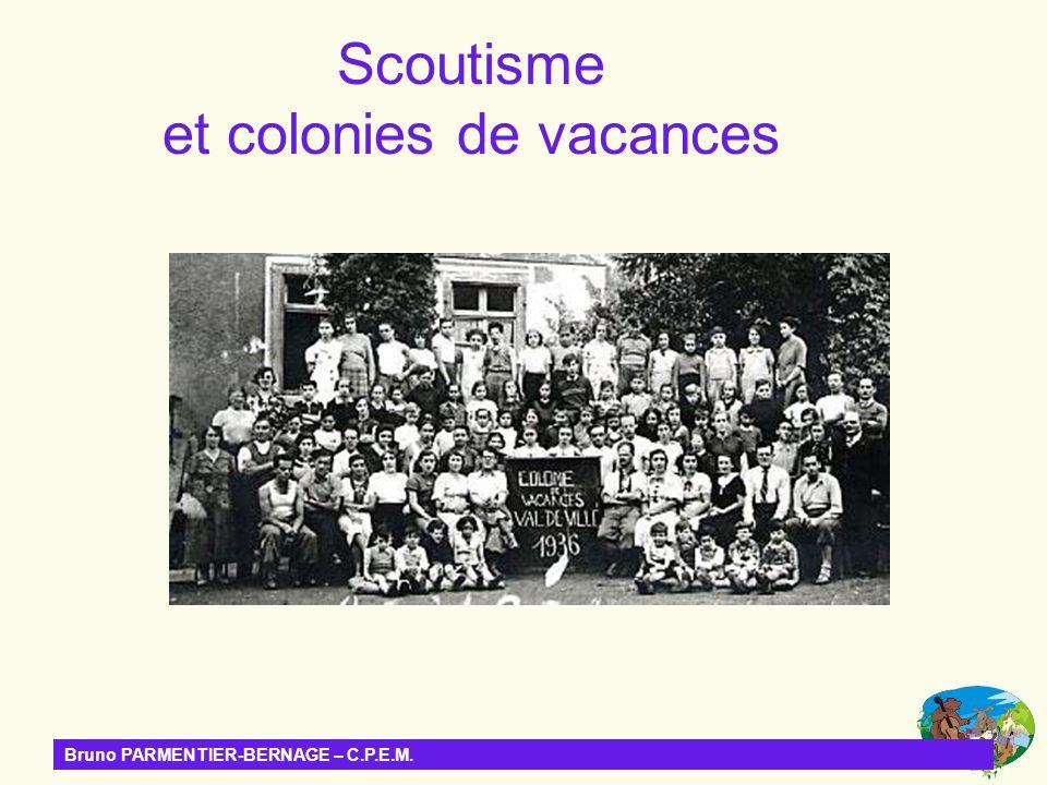Scoutisme et colonies de vacances