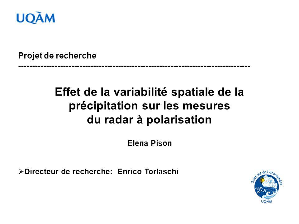 Effet de la variabilité spatiale de la précipitation sur les mesures
