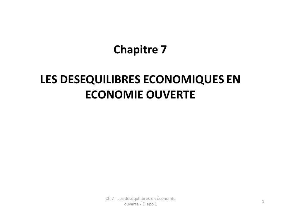 LES DESEQUILIBRES ECONOMIQUES EN ECONOMIE OUVERTE