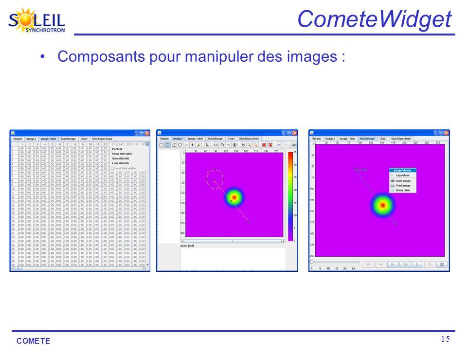 CometeWidget Composants pour manipuler des images :