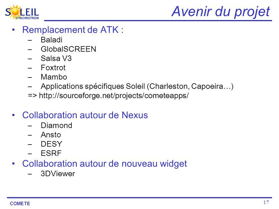 Avenir du projet Remplacement de ATK : Collaboration autour de Nexus