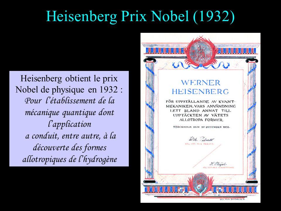 Heisenberg Prix Nobel (1932)