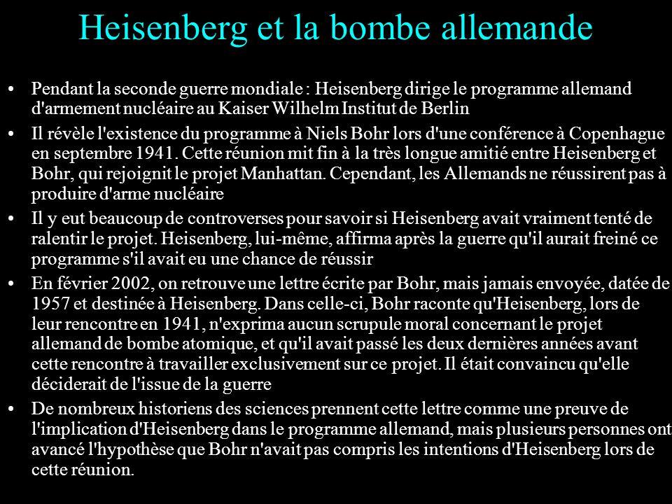 Heisenberg et la bombe allemande