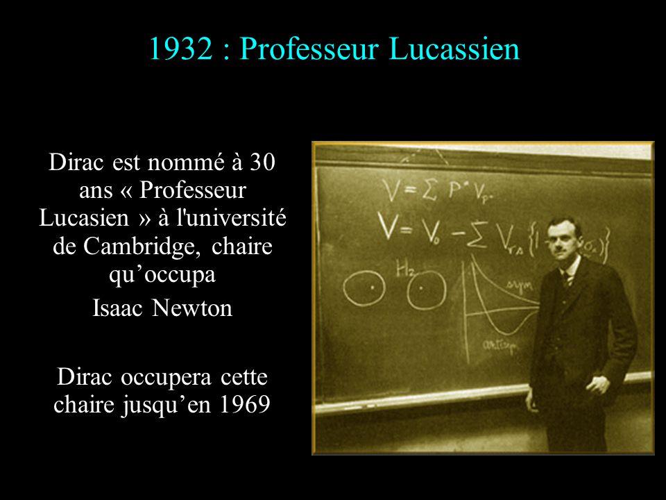 1932 : Professeur Lucassien