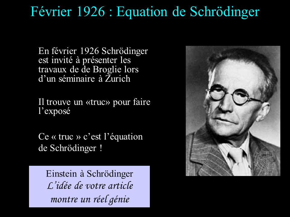 Février 1926 : Equation de Schrödinger
