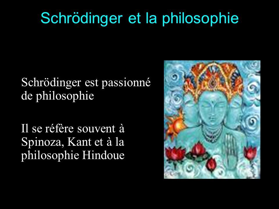 Schrödinger et la philosophie