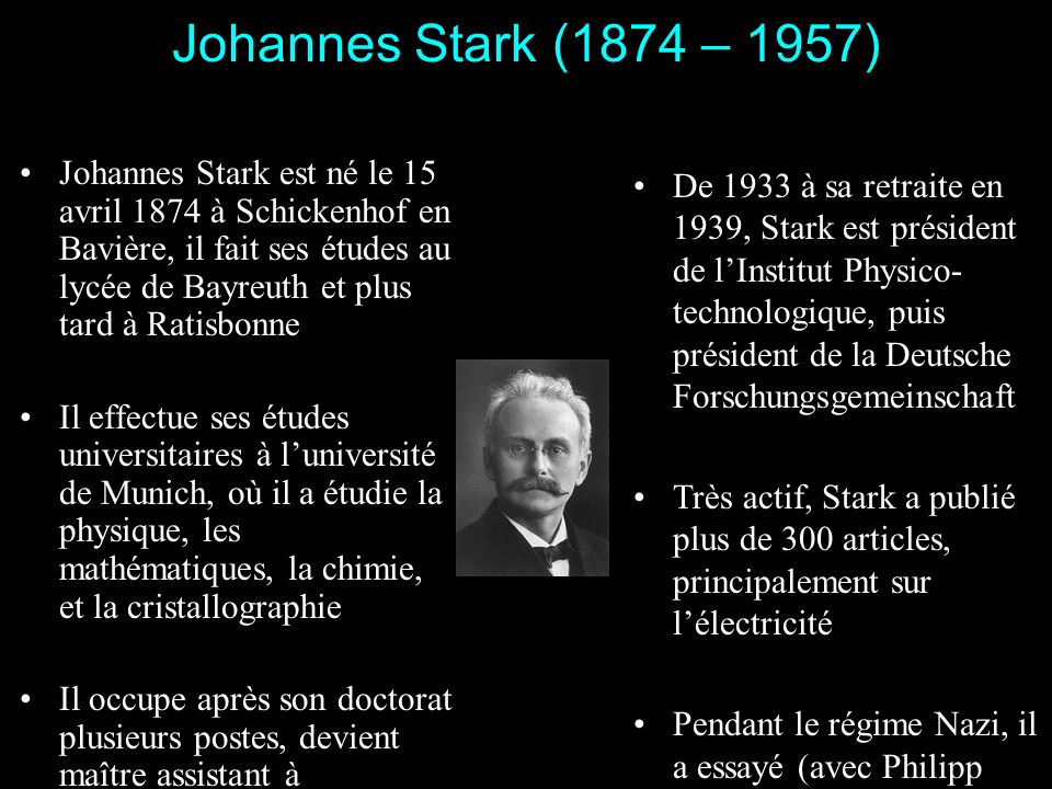 Johannes Stark (1874 – 1957)