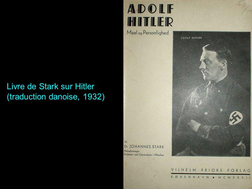 Livre de Stark sur Hitler (traduction danoise, 1932)