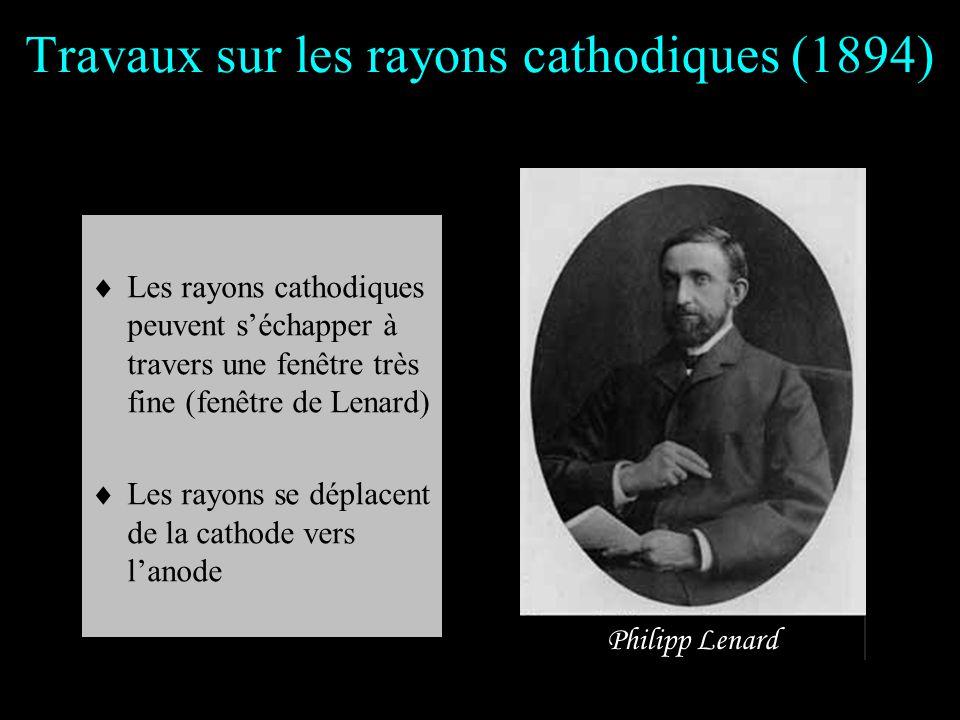 Travaux sur les rayons cathodiques (1894)