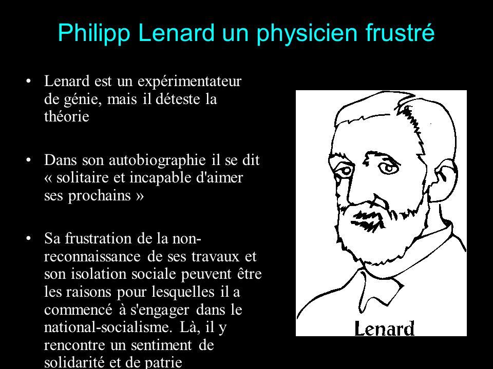 Philipp Lenard un physicien frustré