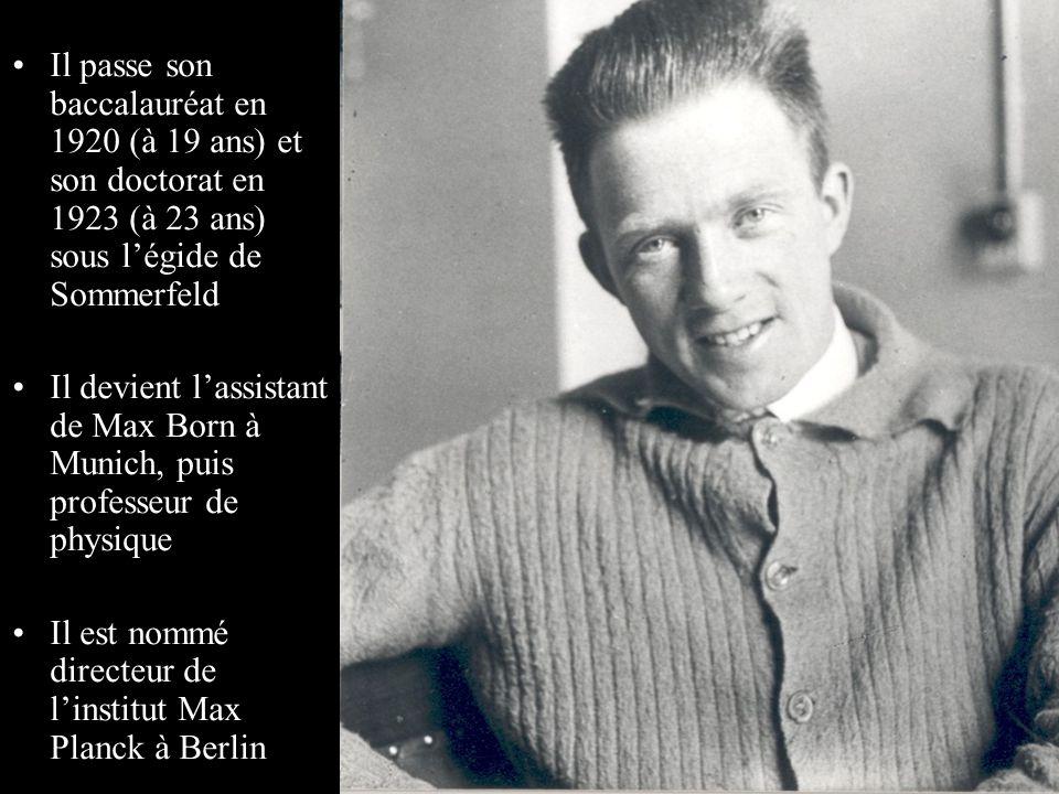 Il passe son baccalauréat en 1920 (à 19 ans) et son doctorat en 1923 (à 23 ans) sous l'égide de Sommerfeld